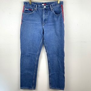 Tommy Hilfiger Vintage Logo Tape Mom Jeans 30
